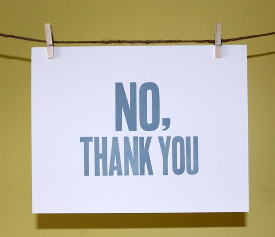 How to say no thanks on dating site