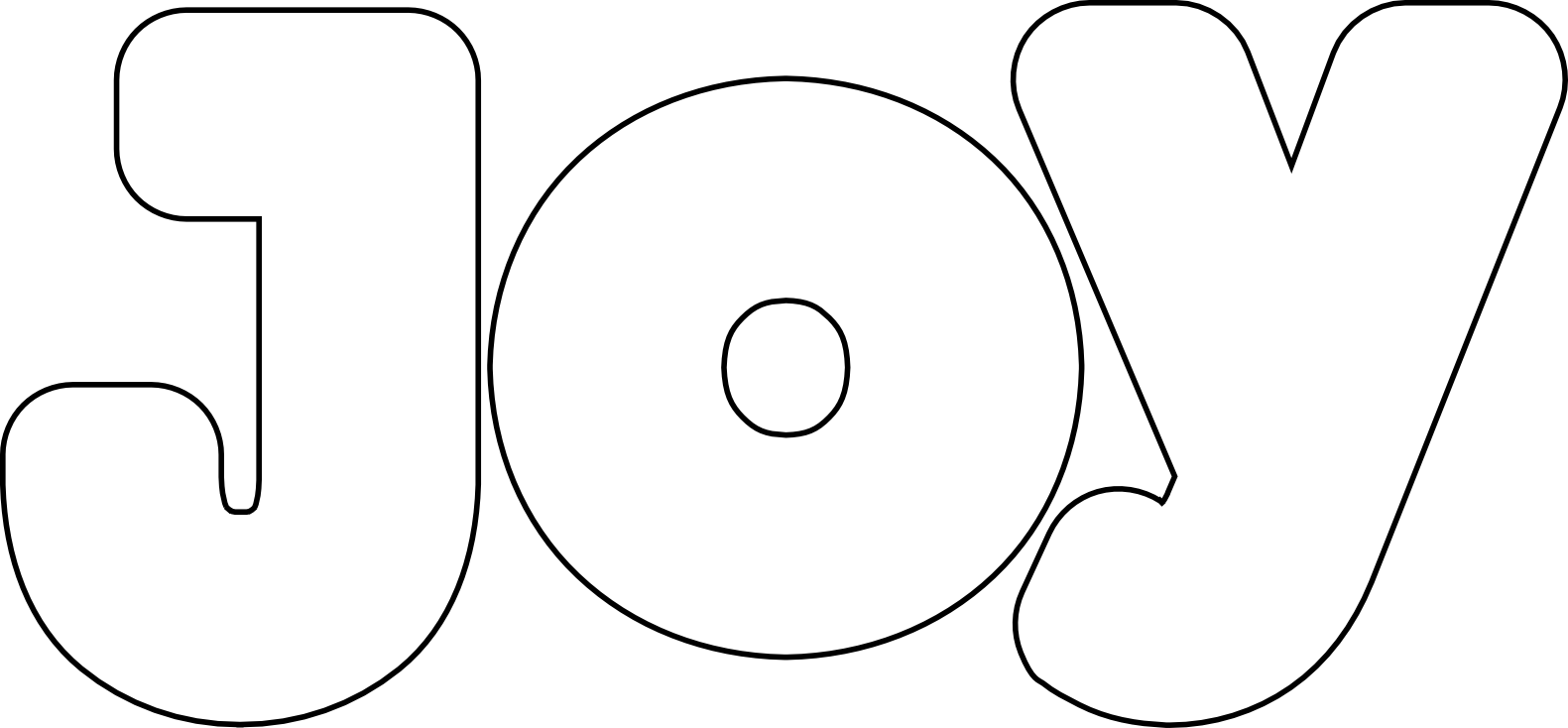 Joy The Word Colouring Pages